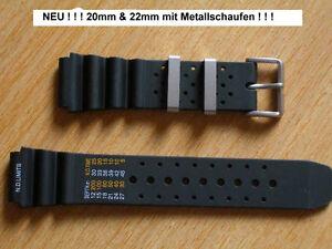 Kautschukband-fuer-Citizen-20mm-22mm-24mm-mit-Metallschlaufen