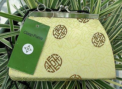 Brand New Small Clasp Purse/Handbag~Pale Green Asian Silk Print~NWT~Adorable