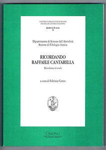 RICORDANDO-RAFFAELE-CANTARELLA-MISCELLANZA-DI-STUDI-CISALPINO-IST-ED-1999