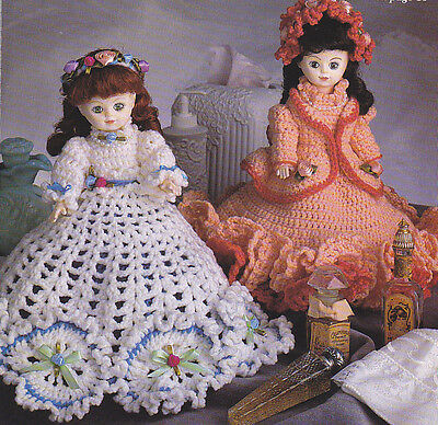 Crochet Pattern ~ TISSUE COVER DOLLS ~ Instructions