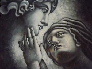 romantic-couple-lovers-black-white-faces-large-oil-painting-canvas-art-original