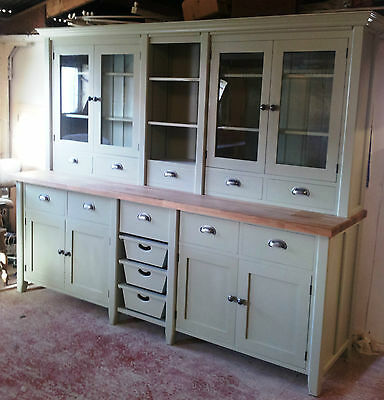 Painted Free standing Kitchen Large Basket Dresser Unit