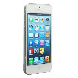 6cb462724553 Smartphone Apple iPhone 5 - 16 Go - Blanc Argenté   eBay