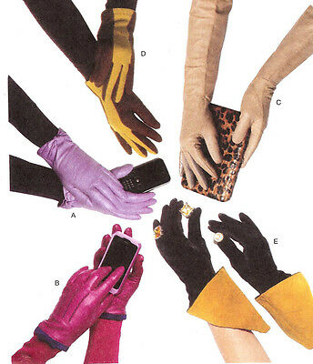 OOP Glove PATTERNs 5 styles One Size Butterick 5695 Classic & Fashion Outerwear