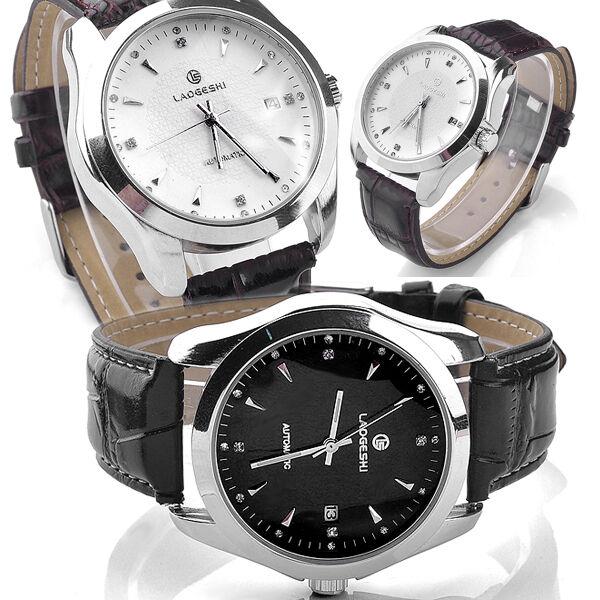 LAOGESHI 41mm Simple Life Leather Mechanical Automatic Wrist Watch waterproof