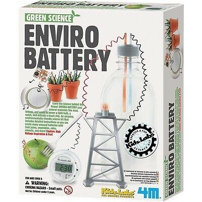 Enviro Battery Green Home Science Kit Recycle Experiment Project Christmas Gift