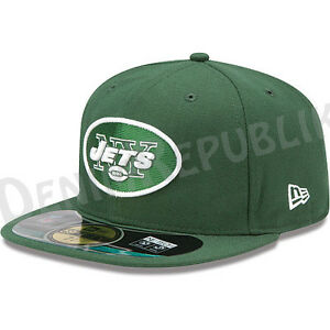 New-Era-5950-NEW-YORK-JETS-Game-Official-NFL-On-Field-Cap-Green-Fitted-Hat