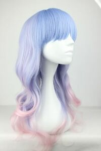 Long-curly-pale-pink-blue-two-toned-lolita-cosplay-wig-UK-SELLER-Ceres-style