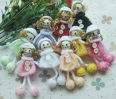 Cute Pattern dress girl small doll craft/appliques DIY handicraft Lots Upick E31