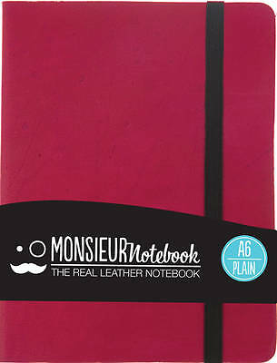 Monsieur Notebook Leather Journal - Pink Plain Small A6 by Monsieur (Leather...