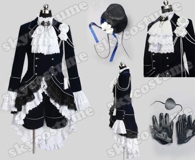 Black Butler Kuroshitsuji Ciel Phantomhive Uniform Kostüm Cosplay Karneval Party