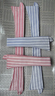 Vintage replacement shirt collar striped Red or Blue UNUSED spare sew-on type