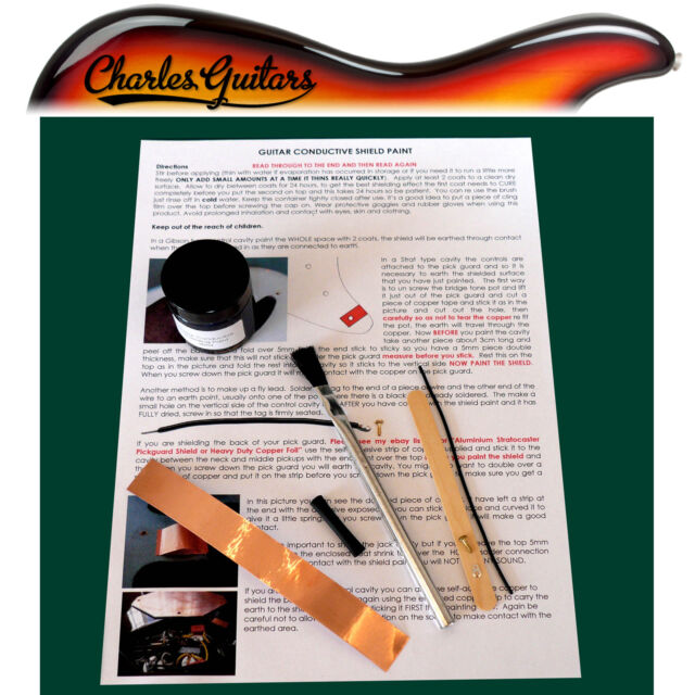 GUITAR CONDUCTIVE SHIELD SHIELDING PAINT ***30ML KIT*** (CH50002)