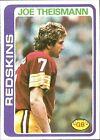 1978 Topps Joe Theismann Washington Redskins #416 Football Card