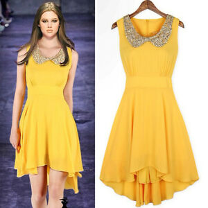 Fashion-Peter-Pan-Collar-With-Sequins-Irregular-Hem-Tunic-Dress-For-Women-D3011