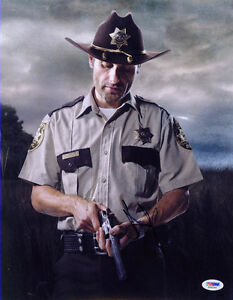 4bcd4ac4566 Image is loading Andrew-Lincoln-SIGNED-11x14-Photo-Rick-Grimes-Walking-