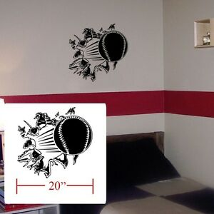 Image Is Loading Baseball Room Boys Girls Decal Crash