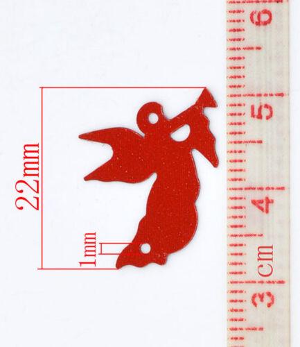 Engel rot Streudeko 22mm Weihnachten Stanzteile Scrapbooking Tischdeko #