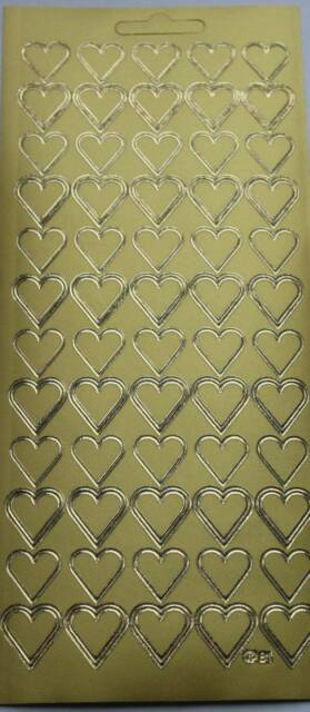 60 PLAIN HEARTS Peel Off Single Sticker Sheet For Card Making Craft Weddings