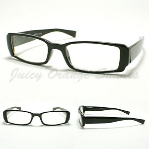 Glasses Frames Too Narrow : SMALL RECTANGULAR Eyeglass Frames BLACK SIMPLE CLASSIC ...