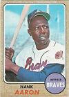 1968 Topps Milton Bradley Hank Aaron Atlanta Braves #110 Baseball Card