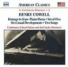 Henry Cowell - : Instrumental, Chamber and Vocal Music, Vol. 2 (2005)