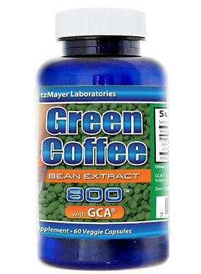 1 Bottle 800mg Green Coffee Bean Extract with CGA & Chlorogenic Acid