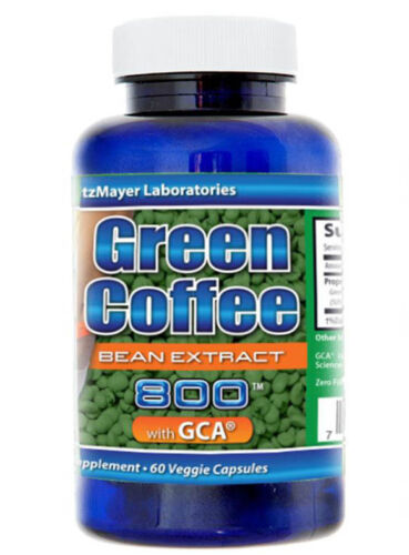 1 Bottle 800mg Green Coffee Bean Extract with CGA & Chlorogenic Acid