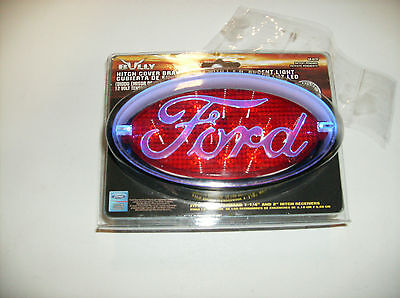 Ford Hitch Cover Brake Light With Led Accent Lights PLCR-017F