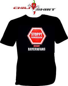 Das Bild Wird Geladen Fun T Shirt Spruch  Stoppt Tierversuche Nehmt Bayernfans
