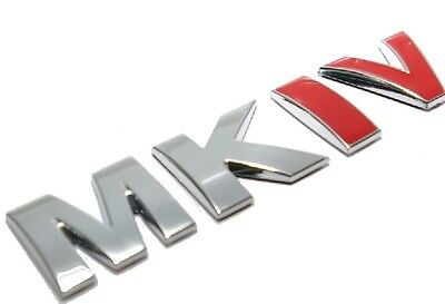 "VW Golf Jetta Bora MK4 Rear Trunk Badge emblem "" MKIV "" RARE CHROME RED  99 - 05"
