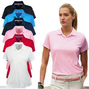 ADIDAS-Golf-BRAND-NEW-Womens-S-L-XL-2XL-Climacool-Pique-Polo-Sport-Shirts-Ladies