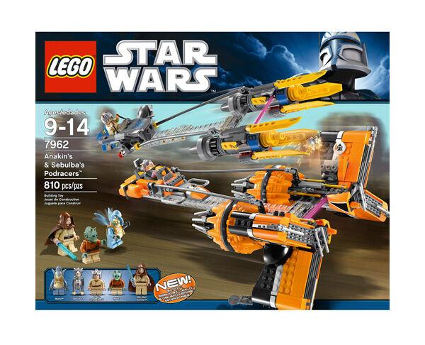 LEGO 7962 Star Wars Anakin Skywalker and Sebulba's Podracers  - NEW & SEALED