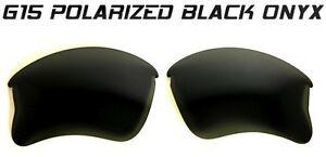 SE-CUSTOM-POLARIZED-BLACK-ONYX-G15-LENSES-FOR-OAKLEY-FLAK-JACKET-XLJ-SUNGLASSES