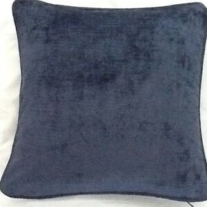 2-X-18-Inch-Cushions-And-Inners-In-Laura-Ashley-Villandry-Midnight-Velvet-Fabric