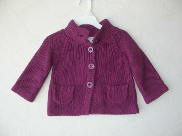 First Impressions Baby Boys Marled Button Front Cardigan Sweater MSRP $13 NWT