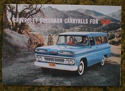 1960 Chevrolet Suburban MLR Trucks sales Brochure 60