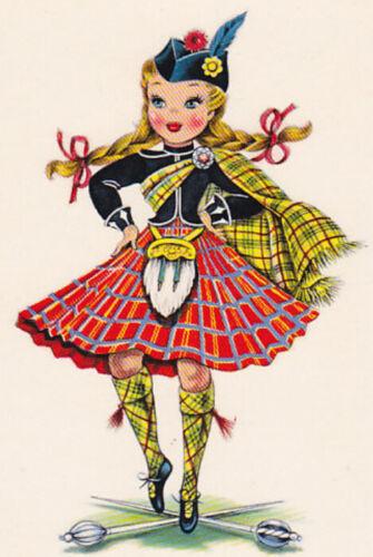 International Doll Scotland Lass Scot Counted Cross Stitch Pattern Chart Graph