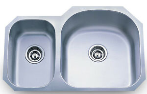 Dowell Sinks : Dowell-6001-3120R-18-Gauge-Undermount-Double-Bowl-Stainless-Steel ...