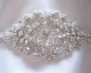Bridal Wedding Bracelet Beaded Crystal Cuff
