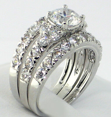 Brilliant 2.66 Ct. Cubic Zirconia Bridal Engagement Wedding  Ring Set - SIZE 7