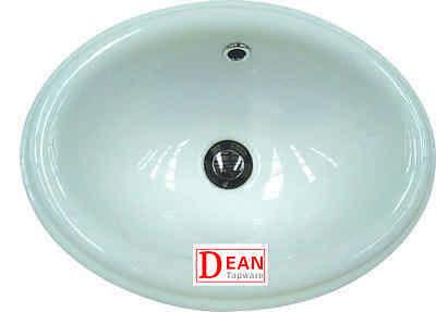 Drop In Ceramic Vanity Basin  Including Pop Up Waste