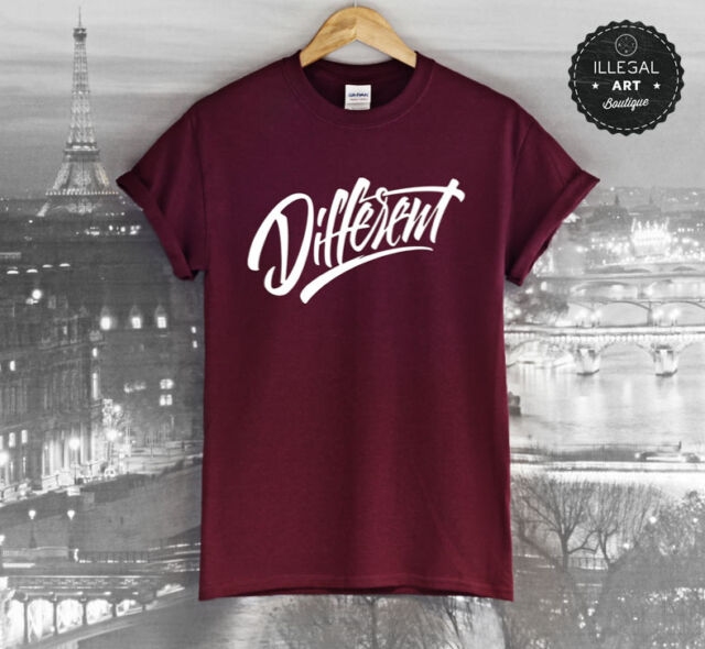 DIFFERENT T SHIRT SKATE URBAN FASHION TV INDIE CARA DELEVINGE WTF TOP UNISEX NEW