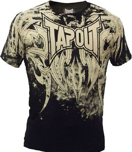 New-Tapout-Mens-Corruption-UFC-MMA-Short-Sleeve-Cage-Fighter-T-shirt-Black