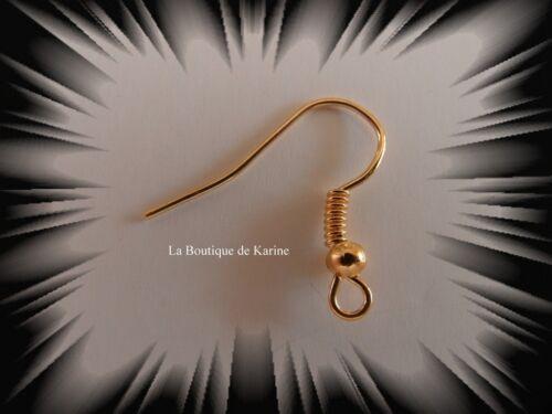 60 Haken Halterungen Ohrringe 18 MM Nickelfrei 6 Farben Perlen