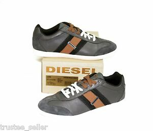 diesel brand men lounge olive orange leather casual sport
