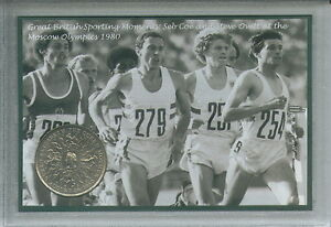 Seb Sebastian Coe Steve Ovett The Moscow Olympic Games Retro Coin Gift Set 1980