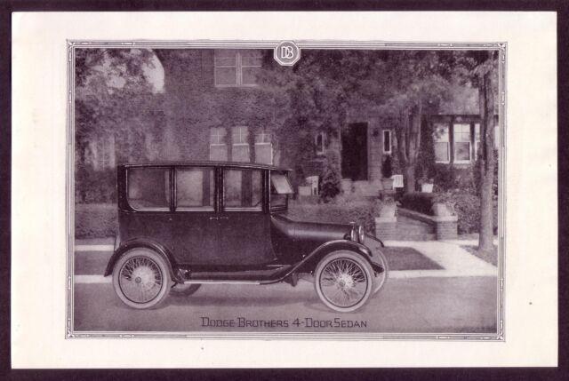 1920 Old Vintage DODGE 4-Door SEDAN Car Automobile Classic CAR art Print AD