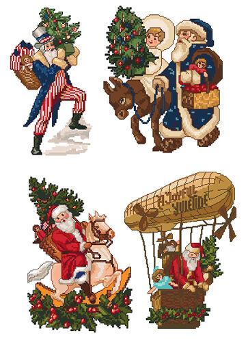"ABC Designs Santas/' Christmas Machine Embroidery Cross Stitch Designs 5/""x7/"" hoop"
