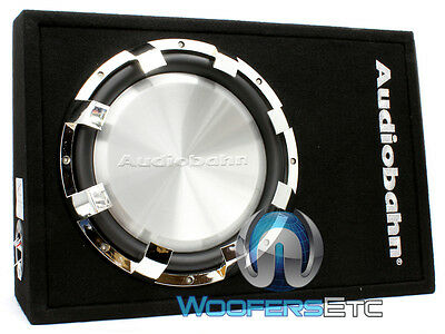 "ABS12H AUDIOBAHN 12"" SHALLOW SLIM MOUNT 1100W SUB ENCLOSED SUBWOOFER SPEAKER BOX"
